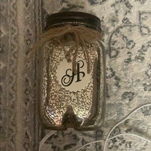 Lantern with initial A